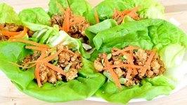 Ginger Sesame Chicken Lettuce Wraps- Lighter Side Recipe