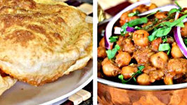 Chole Masala and Bhatura - Step by Step Cooking - Lunch or Dinner or  Breakfast Menu Series