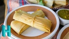 Vegetarian Tamales de Rajas con Queso
