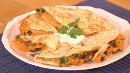 Hearty Sweet Potato and Chipotle Quesadillas