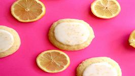 Soft Glazed Lemon Cookies - Easy 5 Ingredient