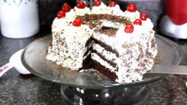 Eggless Black Forest Cake - Without Oven