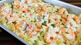 Lobster, Crab And Shrimp Baked Macaroni And Cheese