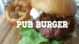 Pub Burger with Raspberry Beer Cheese - Pit Barrel Cooker