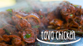 Sizzling Tava Chicken  Dry fried Chicken cooked in spices