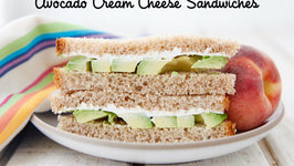 Avocado Cream Cheese Sandwiches - Healthy School Lunch