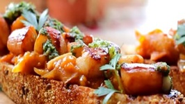 Bay Scallops with Tomato Chutney & Chimichurri Sauce Recipe