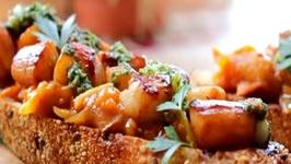 Bay Scallops with Tomato Chutney and Chimichurri Sauce Recipe