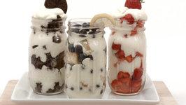 3 Mason Jar Dessert Parfaits