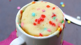 How To Make A Microwave Funfetti Rainbow Cake In A Mug