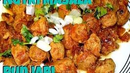 Soyabean Sabzi - Punjabi Nutri Masala Recipe of Soya Nuggets