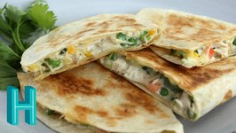 Chicken Pot Pie Quesadillas