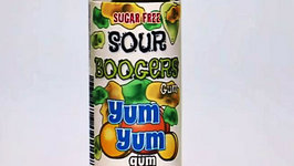 Yum Yum Super Sour Booger Gum Taste Test - Kids Candy Review with Eli and Liam