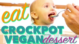 Vegan Crockpot Dessert Recipe - Baked Apples