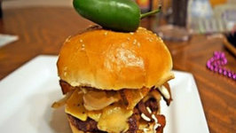 Rustic Southwest Cheese Burger