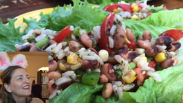 Black eyed Pea and Brown Rice Salad Oil-Free