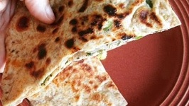 Spicy Green Chilli-Onion Naan- Stuffed Masala Naan