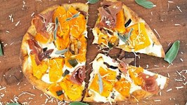 Dinner Recipe- Butternut Squash And Sage Naan Pizza