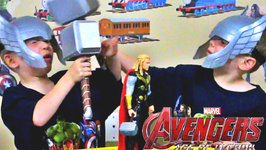 Avengers 2 Age of Ultron - Thor's Hammer - Kids Candy Review with Eli and Liam
