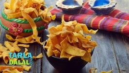 Ribbon Sev (Diwali Dry Snack) by Tarla Dalal