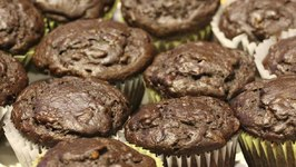 Chocolate Banana Chocolate Chip Muffins
