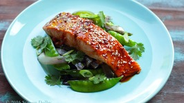 Spicy Glazed Salmon with Chinese Five Spice Vegetable Stir Fry