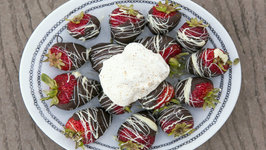 Chocolate Covered Strawberries with Whipped Cream