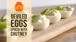 DIY  Devilled Eggs Spiked With Chutney