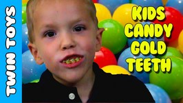 Kids Taste Test Extreme Sour Gold Teeth Grillz - Kids Candy Review w/ Eli and Liam