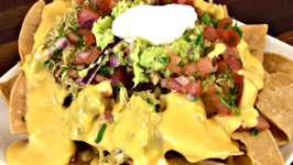 Chile Verde Chicken Nachos - Super Bowl Recipe