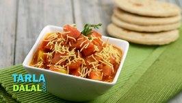 Sev Tameta nu Shaak, Sev Tameta, Gujarati Sev Tameta Nu Shaak Recipe