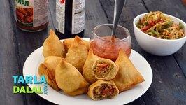 Chinese Samosa, Veg Chinese Noodle Samosa