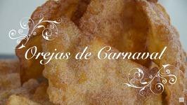 Receta De Orejas De Carnaval Crujientes Y Caseras / Como Hacer Orejas De Carnaval / Receta Orejas