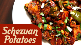 Schezwan Potatoes  Indo Chinese Starter Recipe  Ruchi's Kitchen