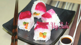 Quick & Easy Veg. Sushi  - Perfect Lunch Box Sushi