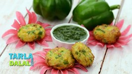 Corn and Capsicum Tikki