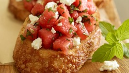 Watermelon Feta Bruschetta
