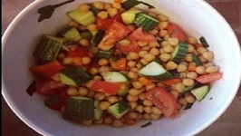 Cucumber, Tomato And Chickpea Salad (Fresh Summer Salad Recipe idea)