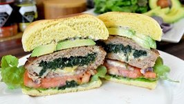 Spinach And Cheese Stuffed Turkey Burgers