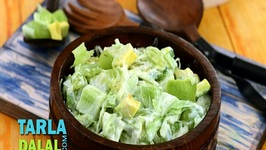 Green Salad with Honey and Curd Dressing (Low Cholesterol & Healthy Heart Recipe)