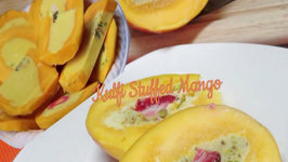 Kulfi Stuffed Mango - Indian Ice Cream Dessert