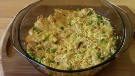 Chicken Noodle Egg Bake