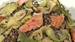 Warm French Lentil and Hot Smoked Salmon Salad