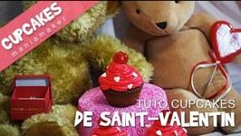Recette Cupcakes de Saint-Valentin pralin et cerise