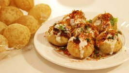 Dahi Puri Popular Indian Street food Snacks or Chaat