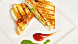 Veg Grill Sandwich Recipe Double Decker - Quick and Easy Indian Street Style