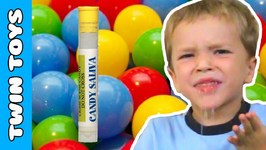 Kids Taste Test Extreme Liquid Candy Spit - Kids Candy Review w/ Eli and Liam