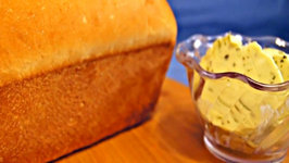 Homemade White Bread on the Kamado Joe with Herb Compound Butter