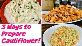 Sriracha Roasted Cauliflower/ Fried