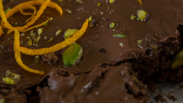 Delicious Chocolate Brownies with Orange And Pistachio